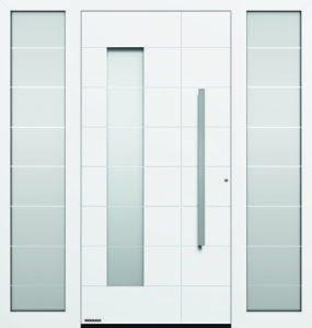 Haustür mit Seitenteilen
